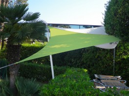 Voile d'ombrage triangle 5 x 5 x 5 m Vert Anis