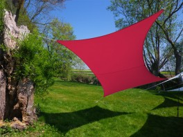 Voile d'ombrage rectangle 3 x 2 m Framboise