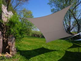 Voile d'ombrage rectangle 3 x 2 m Taupe