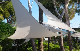 Voile d'ombrage triangle 5 x 5 m Ardoise