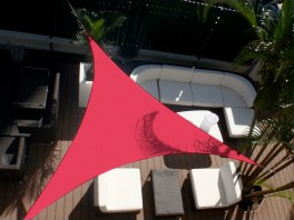 Voile d'ombrage triangle 3 x 3 x 3 m Framboise