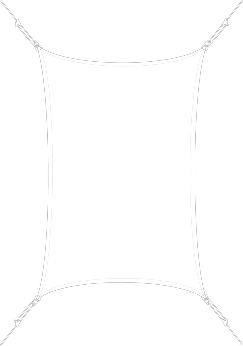 Voile d'ombrage rectangulaire 3 x 2 m Blanche