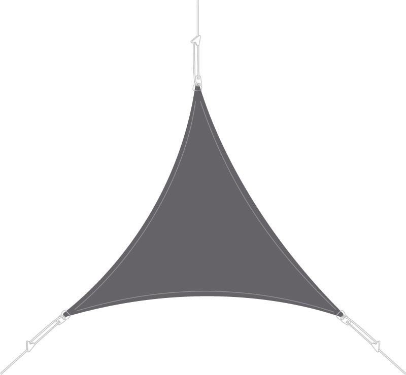 Voile d'ombrage triangle 3 x 3 m Ardoise