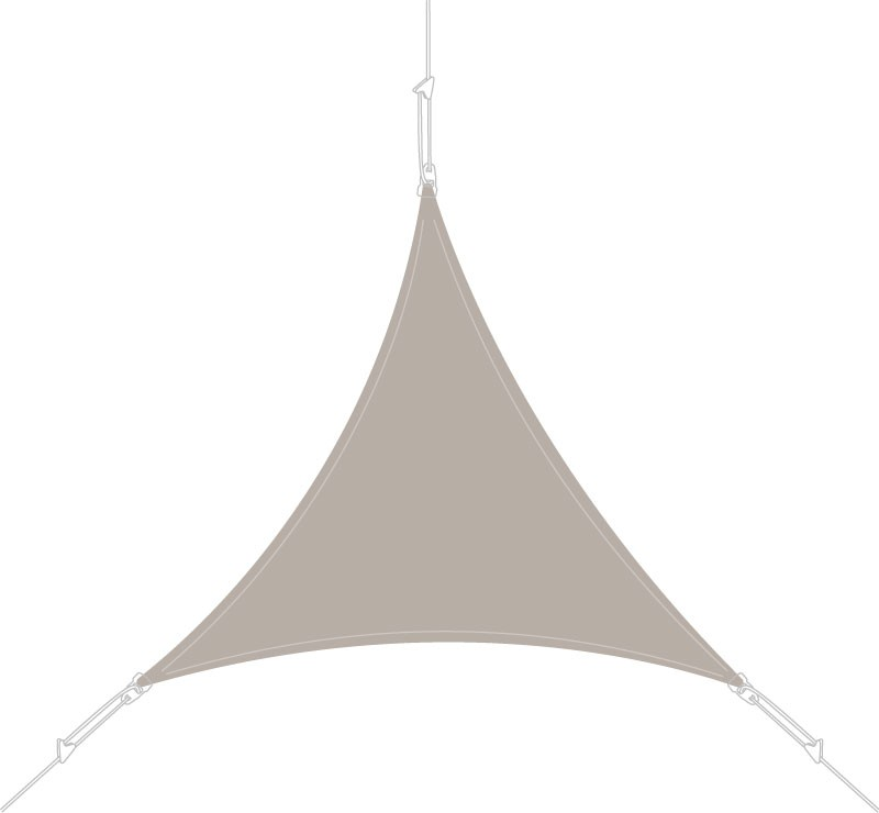 Voile d'ombrage triangle 4 x 4 x 4 m Taupe