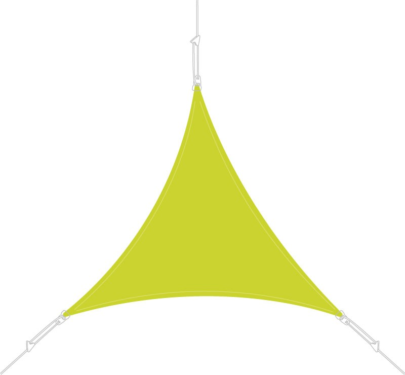 Voile d'ombrage triangle 3 x 3 x 3 m Vert Anis