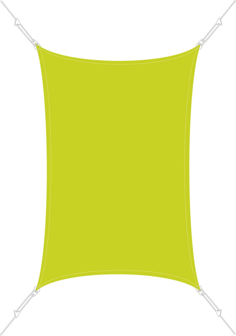 Voile d'ombrage rectangulaire 3 x 2 m Vert Anis